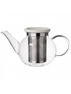 Artesano Glass Tea Pot with Strainer 34oz