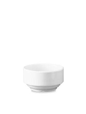 Plain White Consomme Stacking Bowl Unhandled 400ml